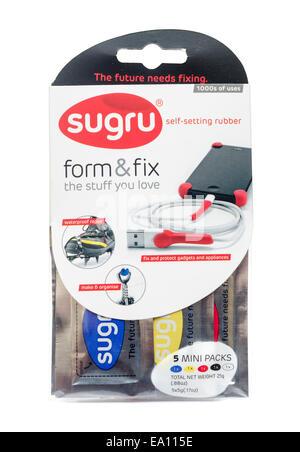 Sugru self-setting rubber - Stock Image