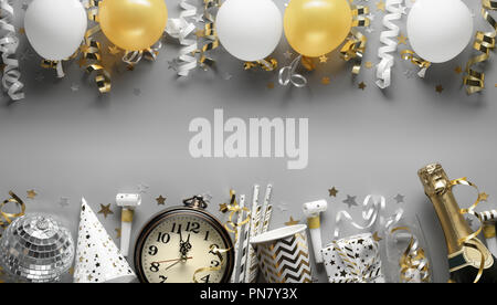 party ornaments for new year eve or other festivities - Stock Image