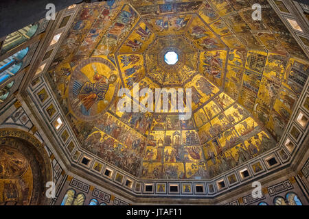 Dome of Battistero San Giovanni, UNESCO World Heritage Site, Florence, Tuscany, Italy, Europe - Stock Image