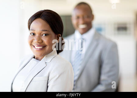 attractive black business woman looking at the camera - Stock Image