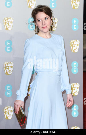 London, UK. 10th Feb, 2019. LONDON, UK. February 10, 2019: Gemma Whelan arriving for the BAFTA Film Awards 2019 at the Royal Albert Hall, London. Picture: Steve Vas/Featureflash Credit: Paul Smith/Alamy Live News - Stock Image