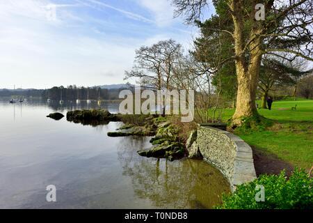 Lake Windermere,Ambleside,Lake District,Cumbria,England,UK - Stock Image