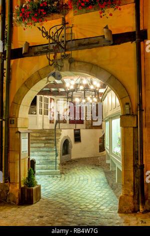 Passage du Palais in Rue de l'Eau, Luxembourg City, Luxembourg - Stock Image