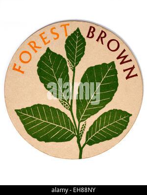 Vintage Beermat Advertising Forest Brown Beer - Stock Image