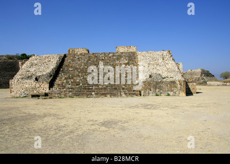 Building J The Observatory, Monte Alban, Oaxaca, Mexico - Stock Image