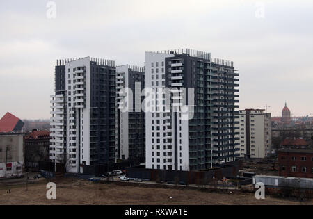 New apartment blocks at Gdansk in Poland - Stock Image