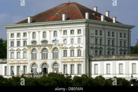 The picture shows Nymphenburg Palace in Munich, Germany, 04 June 2007. The palace was built in 1664 as a gift from - Stock Image