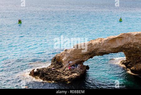 The Love Bridge seaarch, Ayia Napa, Cyprus October 2018 - Stock Image