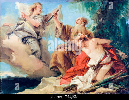 The Sacrifice of Isaac, painting by Giovanni Domenico Tiepolo, mid-1750s - Stock Image