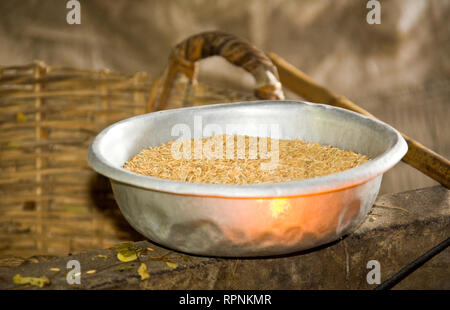 Bowl of Rice - Stock Image