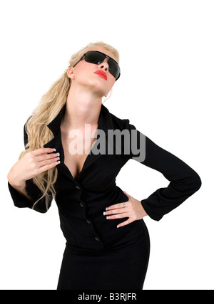 gorgeous model on white background - Stock Image