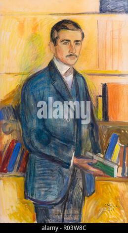 Herbert Esche in the Library, Edvard Munch, 1905, Zurich Kunsthaus, Zurich, Switzerland, Europe - Stock Image