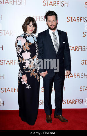 Lizzie Caplan and Tom Riley attending the UK premiere of Starfish at the Curzon Mayfair cinema in London. - Stock Image