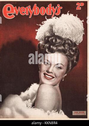 1947 Everybody's Magazine June Haver - Stock Image