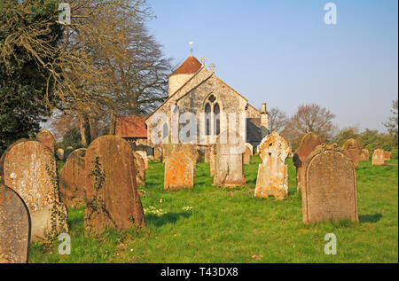 A view from the east of the parish Church of All Saints at Freethorpe, Norfolk, England, United Kingdom, Europe. - Stock Image