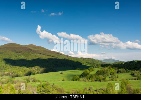 Beautiful summer day in Bieszczaady Mountains in Carpathia,Poland. - Stock Image