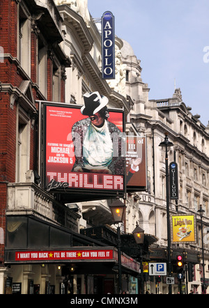 Thriller showing at the Lyric Theatre Shaftesbury Avenue London March 2012 - Stock Image