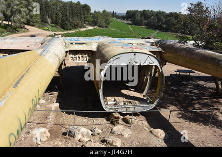 abandoned ww2 aircraft in israel - Stock Image