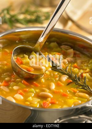 Tuscan White Bean Soup - Stock Image