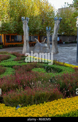 Irene village mall, a modern shopping mall filled with works of art, Pretoria, South Africa - Stock Image