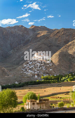 Chemre or Chemrey Village & monastery, nr Leh, Ladakh, India - Stock Image