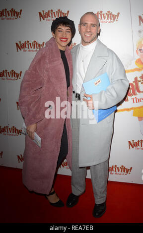 Celebrities attend 'Nativity! The Musical' Press Night held at the Hammersmith Apollo theatre  Featuring: Jimmy Essex Where: London, United Kingdom When: 20 Dec 2018 Credit: WENN.com - Stock Image