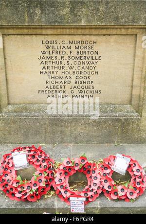 A war memorial in Burford, UK. - Stock Image