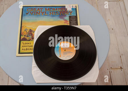 Compilation album curated by disc jockey Andy Kershaw - Stock Image