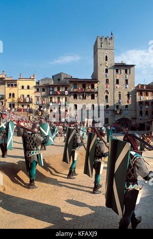 Tuscany Arezzo Giostra del Saracino - Stock Image