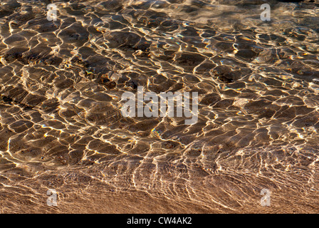 Ripples in the water, Moses Rock Beach, Western Australia - Stock Image