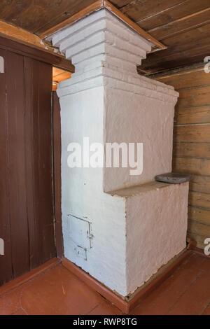 House of artist Ivan Golikov interior, Palekh, Ivanovo region, Russia - Stock Image