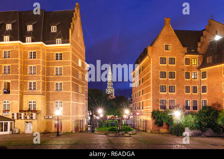 Brussels at night, Brussels, Belgium - Stock Image