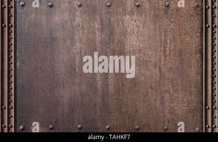 steam punk rusty metal background - Stock Image