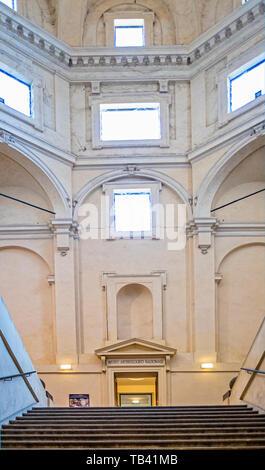 Italy Emilia Romagna Parma Museum Pole of the Pilotta - Interior architecture - Stock Image