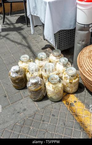 Israel, Tel Aviv-Yafo - 24 April 2019: Shuk hapishpeshim flea market - Stock Image