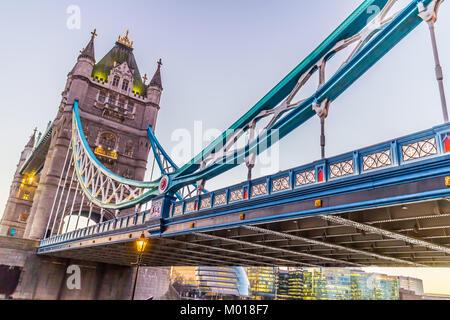 Tower Bridge, River Thames, London. - Stock Image