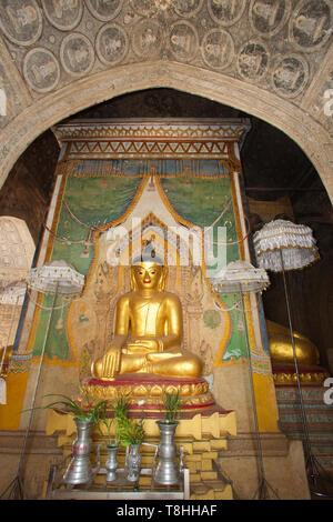 Leimyethna pagoda, Old Bagan village area, Mandalay region, Myanmar, Asia - Stock Image