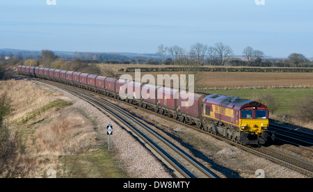 Freight train Yorkshire England - Stock Image