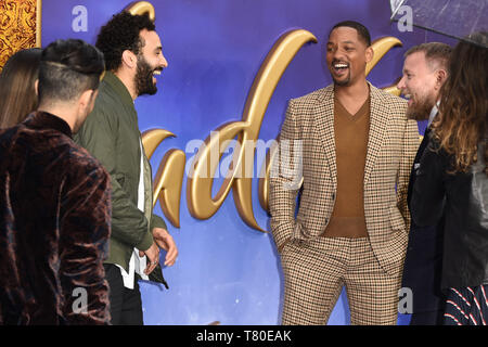 London, UK. 09th May, 2019. LONDON, UK. May 09, 2019: Marwan Kenzari & Will Smith at the 'Aladdin' premiere at the Odeon Luxe, Leicester Square, London. Picture: Steve Vas/Featureflash Credit: Paul Smith/Alamy Live News - Stock Image