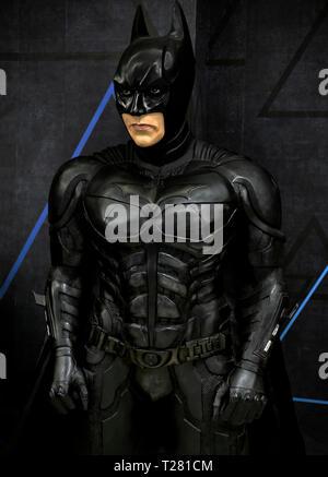 Wax figure. Batman, The Dark Knight,  Louis Tussaud's waxworks Pattaya Thailand - Stock Image