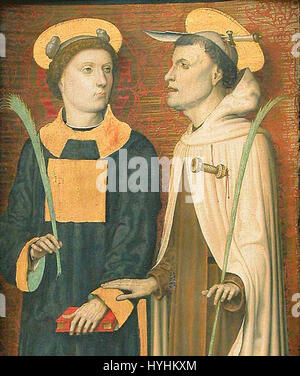 Carlo braccesco, trittico dell'annunciazione 06 - Stock Image