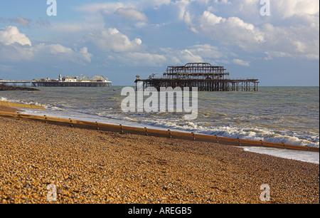 Brighton Piers Sussex - Stock Image