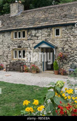 Upperdale House, a complex of bed, breakfast and holiday cottages, belonging to Chatsworth House but set in Monsal Dale, Peak District, UK - Stock Image
