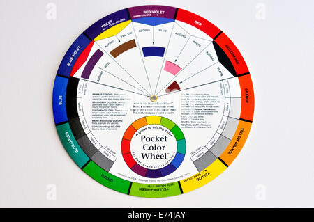 Color wheel for artists - Stock Image