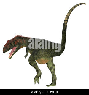 Mapusaurus was a carnivorous theropod dinosaur that lived in Argentina during the Cretaceous Period. - Stock Image
