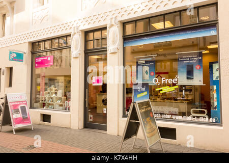 TRIER, GERMANY - 4TH Aug 17:  Telefonica Germany is a provider of broadband, landline and mobile telecommunication services that trades under the name - Stock Image