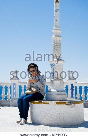 Benidorm Mirador del Castillo Mediterranean lookout point in Alicante Spain - Stock Image