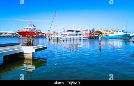Fremantle Fishing Boat Harbour. Fremantle, WA - Stock Image