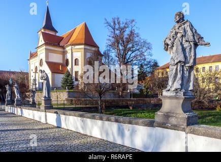 Námest Nad Oslavou, baroque bridge, Moravia, Czech republic - Stock Image