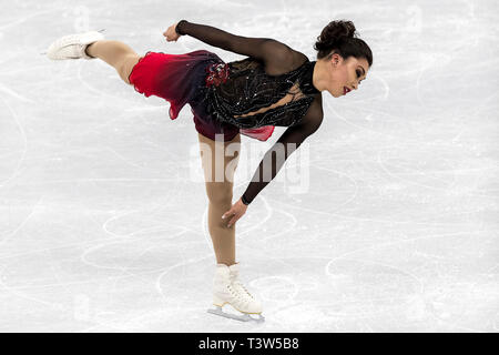 Gabrielle Daleman (CAN) competing in the Figure Skating - Ladies' Short at the Olympic Winter Games PyeongChang 2018 - Stock Image